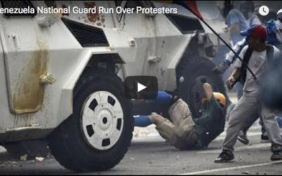 Shocking Footage: Venezuelan National Guard Truck Drives Through Crowd of Dissidents