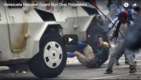 Shocking Footage: Venezuelan National Guard Truck Drives Through Crowd of Dissidents