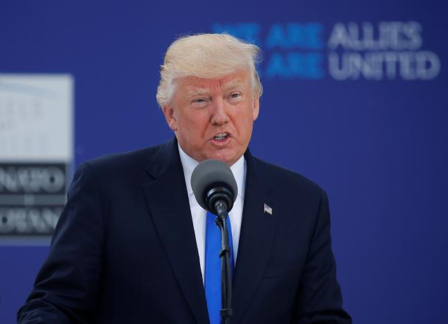 Trump, at NATO, vows unwavering fight against terrorism