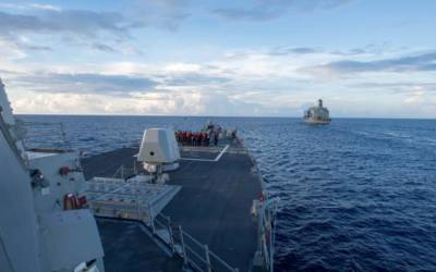 In first under Trump, U.S. warship challenges Beijing's claims in South China Sea