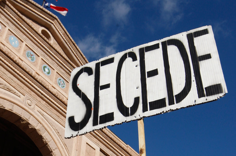 The big breakup: Residents in a half-dozen states talking secession… we are no longer a unified nation
