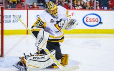 Penguins' Fleury left available for Vegas expansion draft
