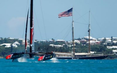 New Zealand reach match point against U.S. in America's Cup