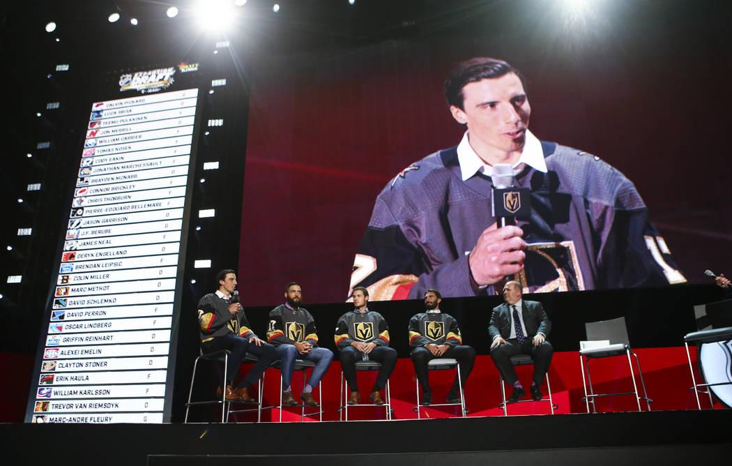 Vegas Golden Knights assemble mix of young, veteran talent