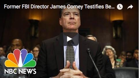Former FBI director James Comey testifies before Congress