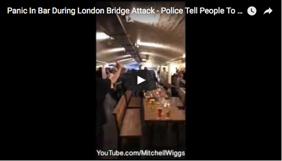 Panic In Bar During London Bridge Attack – Police Tell People To Seek Cover
