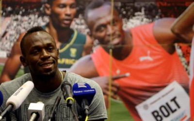 Bolt brings sunshine and heat on his last trip to Golden Spike meeting