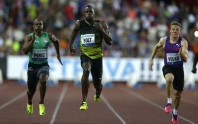 Bolt holds on to win 100 meters at Golden Spike