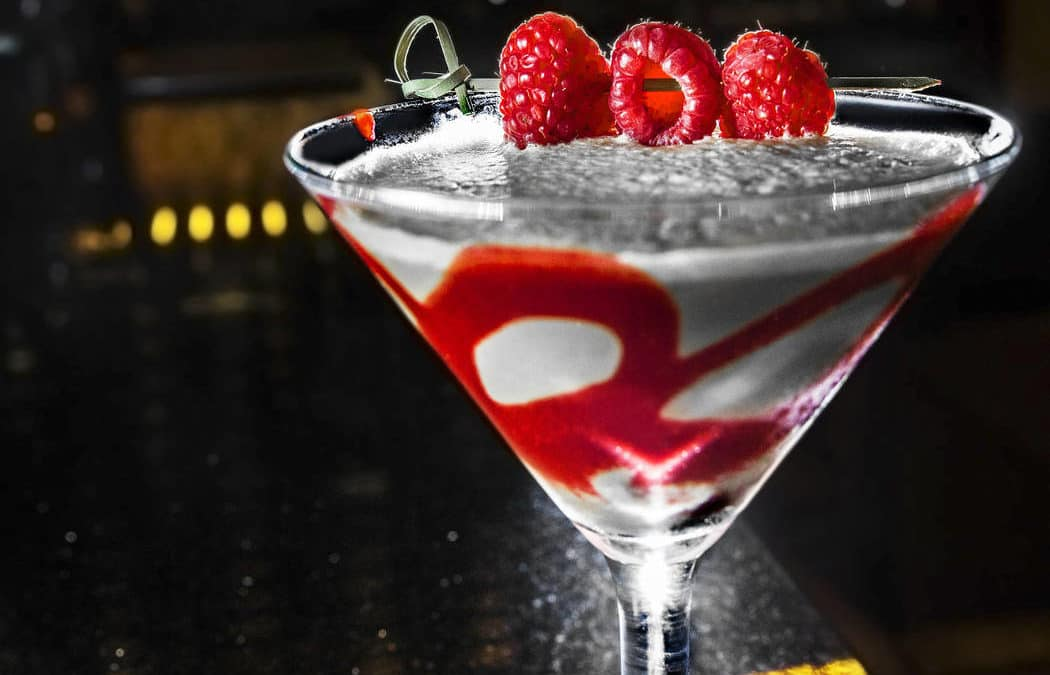 The Palm's French Kiss is a sweet berry, coffee martini