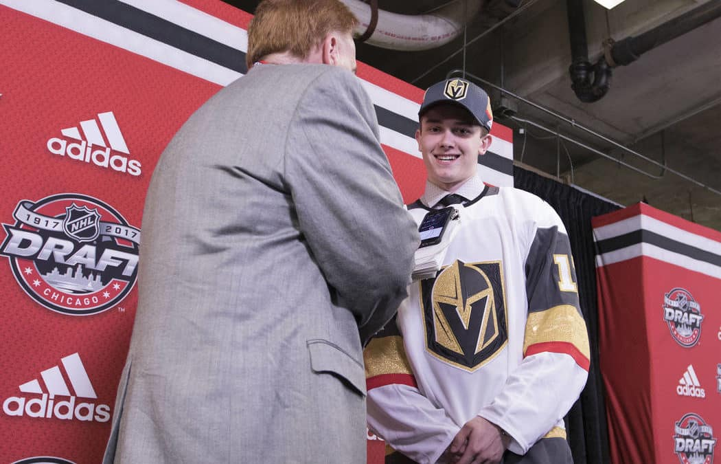 Golden Knights sign top three draft picks, two free agents