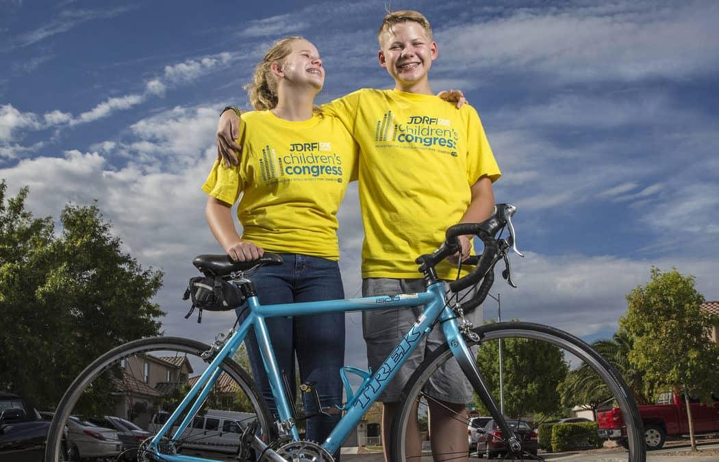 Las Vegas siblings visit DC in diabetes research funding quest