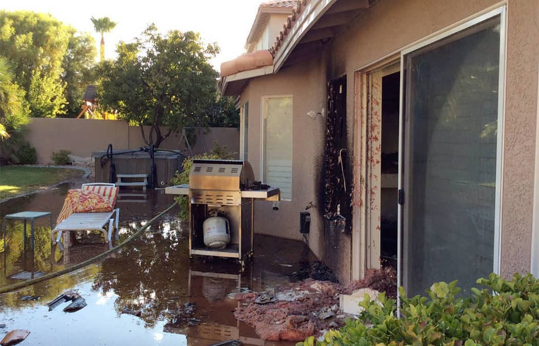 House fire injures 3 firefighters in northwest Las Vegas
