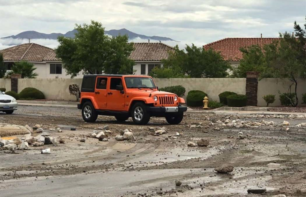 Widespread flooding reported in Las Vegas Valley