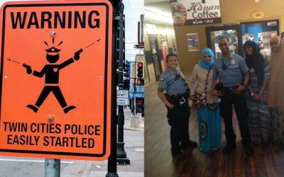 FAKE STREET SIGNS MOCKING MINNEAPOLIS POLICE APPEAR AFTER CONTROVERSIAL SHOOTING