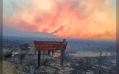 Evacuation orders lifted but California wildfire rages on