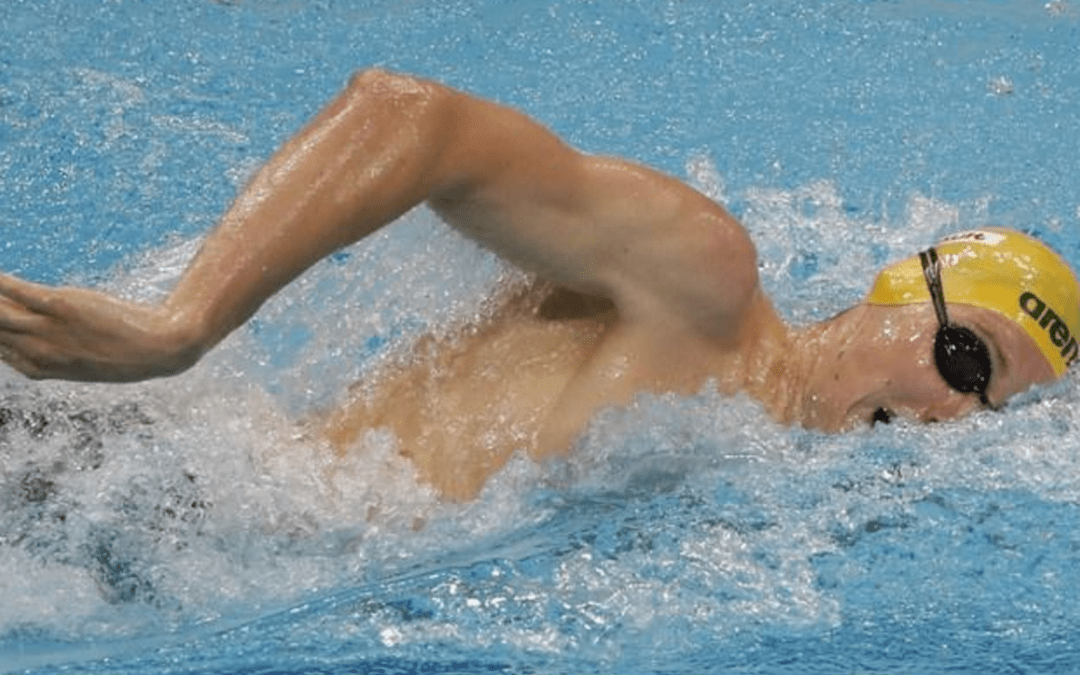 Olympic champion Horton battles into 400 meters freestyle swimming final