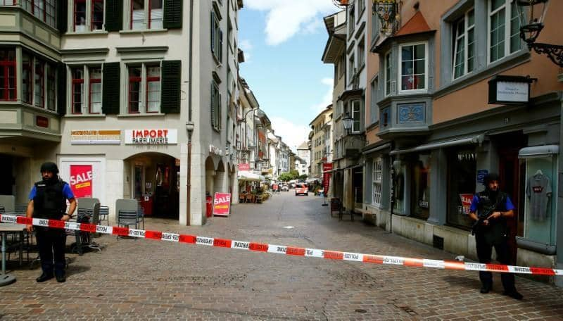 Chainsaw attacker wounds five in Swiss town, police launch manhunt