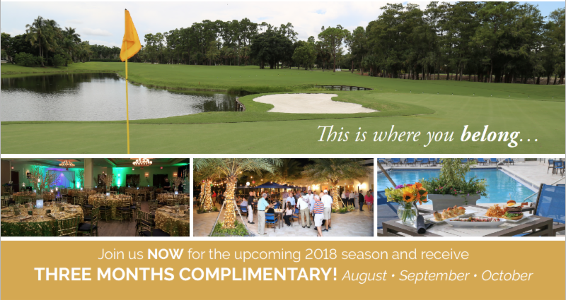 Wellington National Golf Club Offers   Three Complimentary Months of Membership