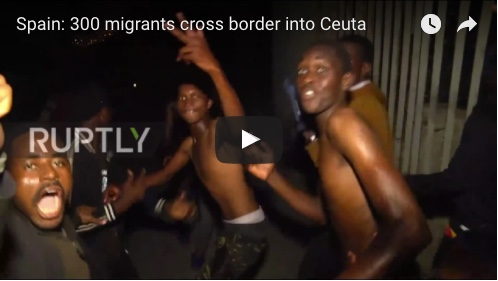 Spain: 300 migrants cross border into Ceuta