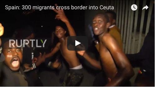 Spain: 300 Migrants Cross Border into Ceuta