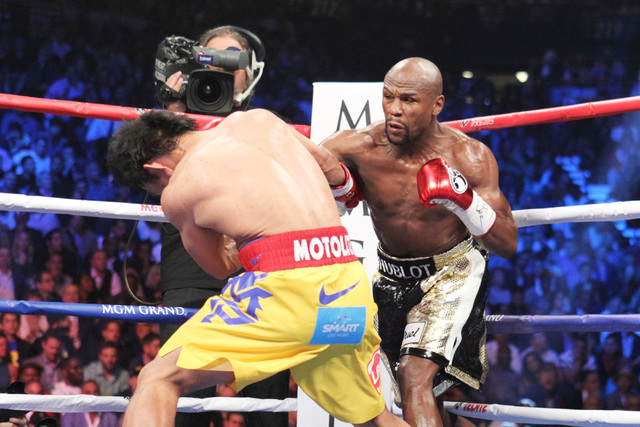 With Rocky Marciano in sight, Floyd Mayweather plans to party