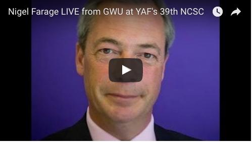 Nigel Farage Live from Gwu at Yaf's 39th Ncsc