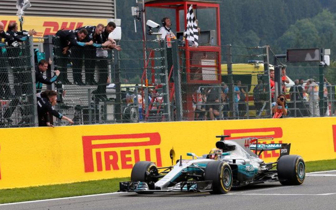 Motor racing: Hamilton marks 200th race with victory in Belgium