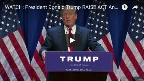 President Donald Trump Raise Act Press Conference
