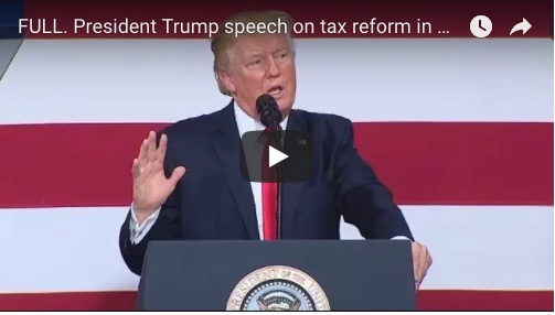 TRUMP TAX REFORM SPEECH Springfield, Missouri. August 30, 2017.