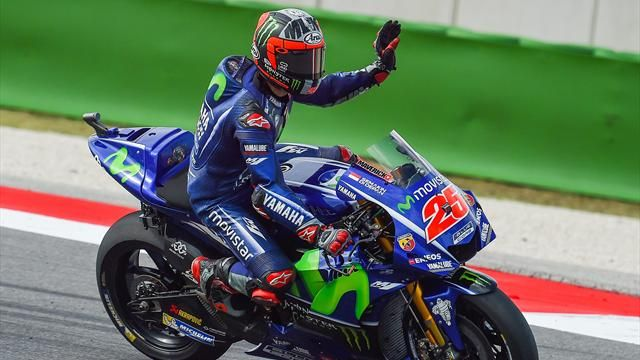 Motorcycling: Vinales on pole for San Marino GP as Marquez crashes