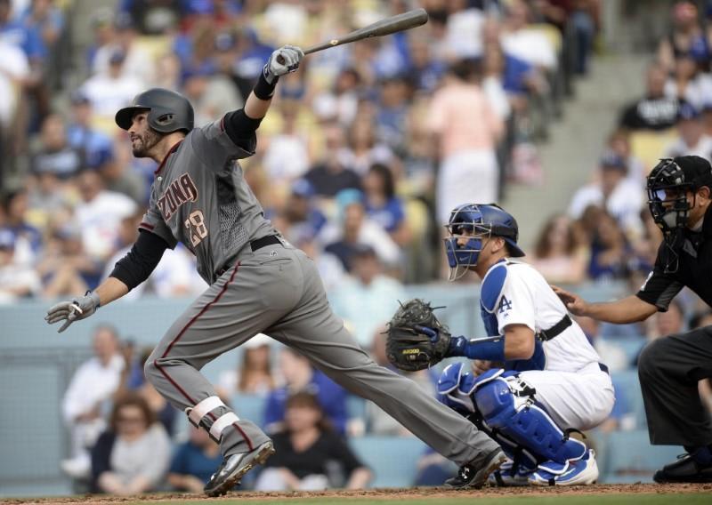 D-Backs' Martinez blasts four HRs to tie MLB record