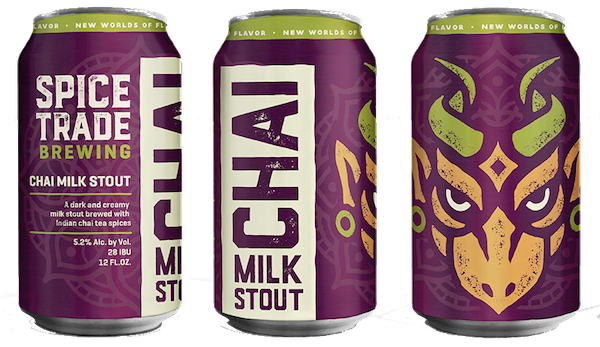 Spice Trade Brewing Releases Cans of Chai Milk Stout and Sun Temple IPA