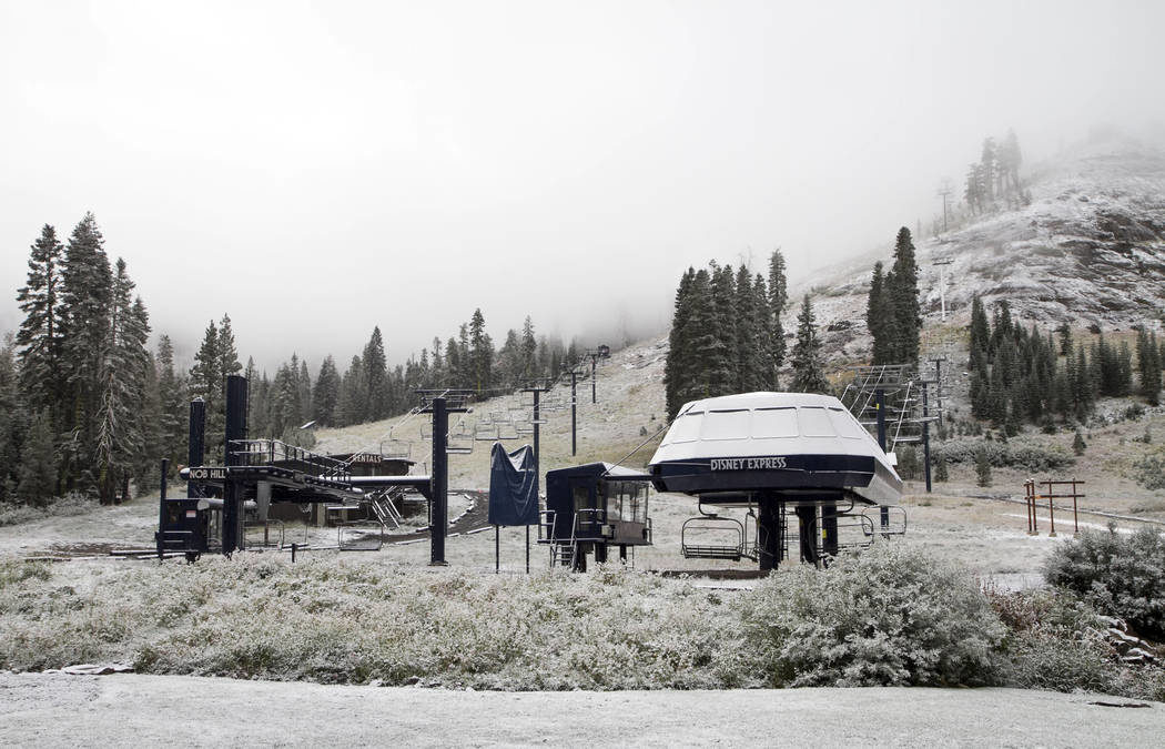 Snowfall welcomes start of fall in the Sierra Nevada