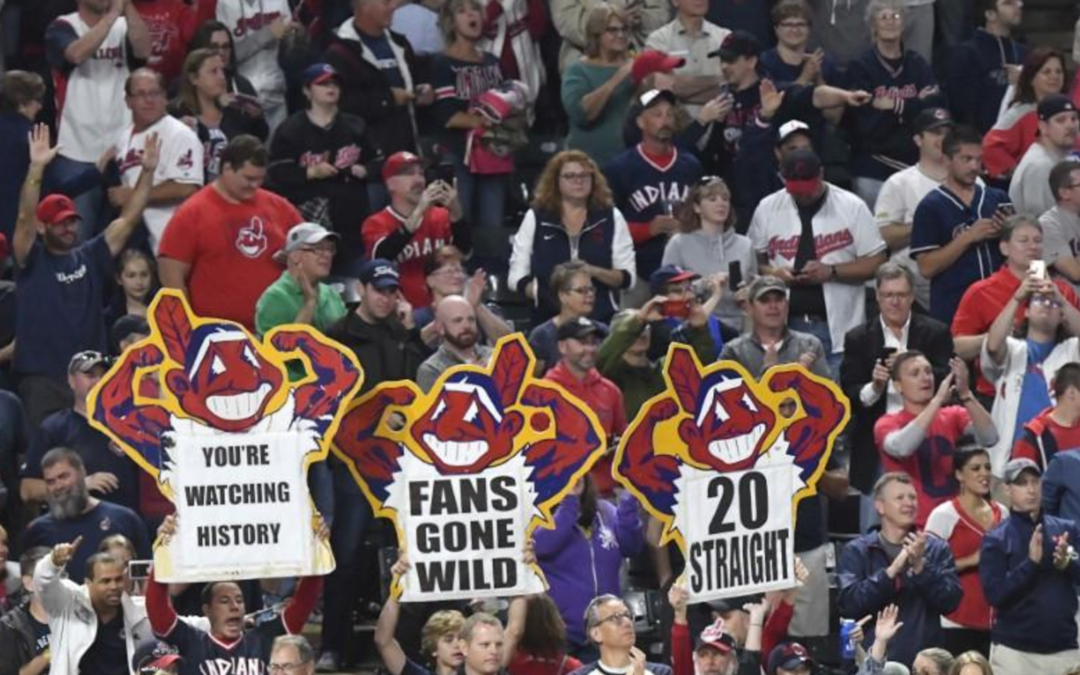 Indians grab 20th straight win to tie American League record