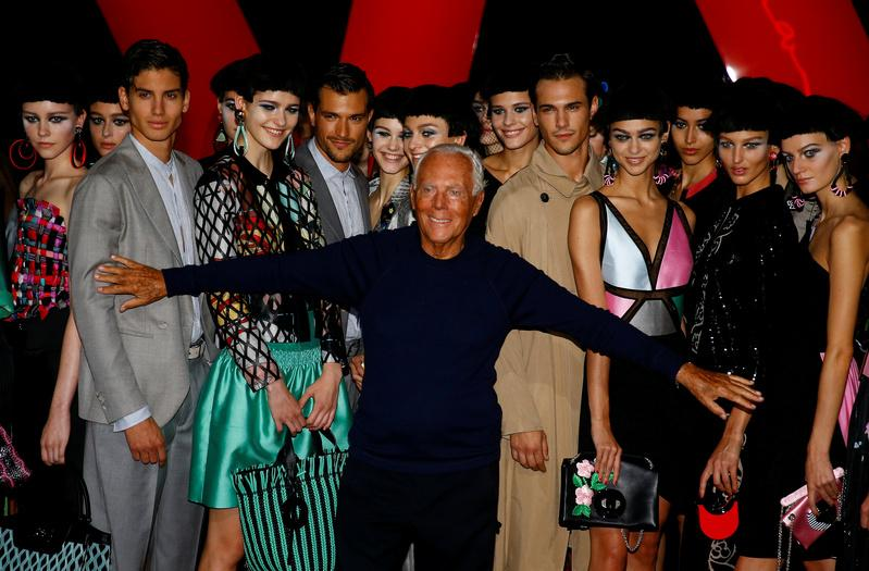 Colors can chase away the blues, says Giorgio Armani
