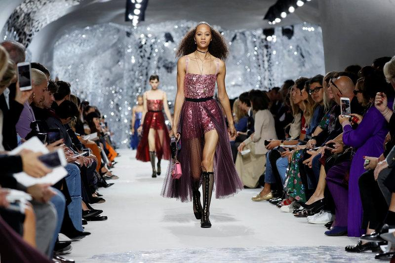 Playful Dior brightens Paris Fashion Week with mirrors and mosaics