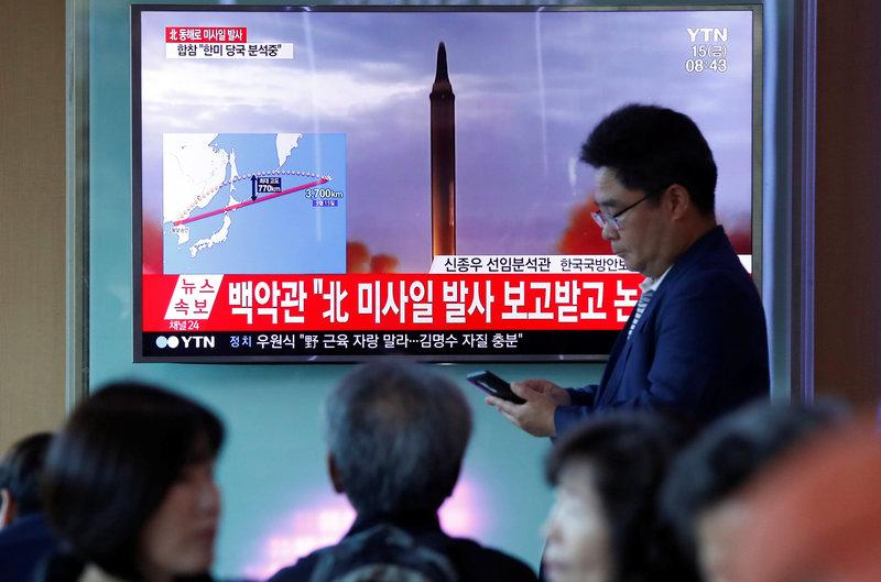 U.N. Security Council to meet after North Korea fires another missile over Japan