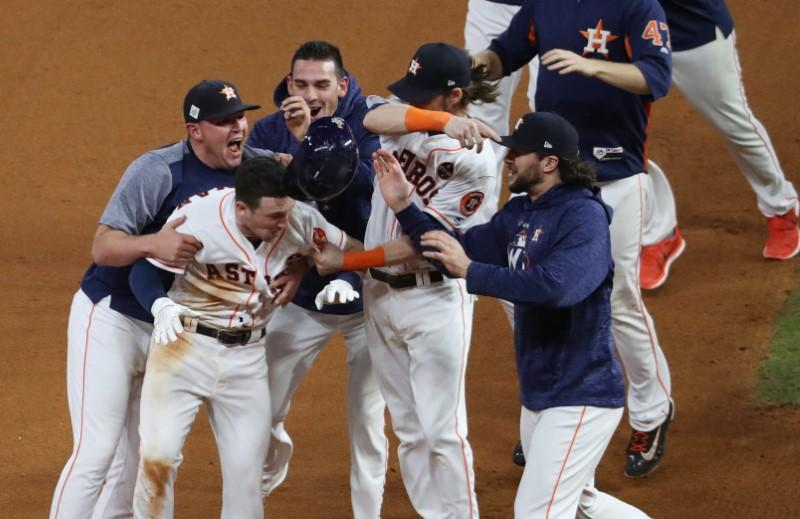 Astros win thriller, on brink of World Series crown