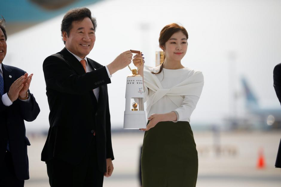 South Korea welcomes Olympic flame ahead of 2018 Games