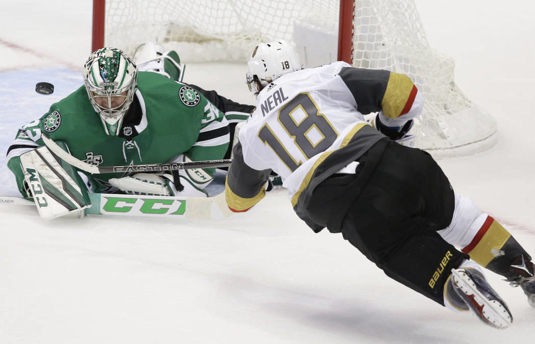 Golden Knights win inaugural NHL game, 2-1