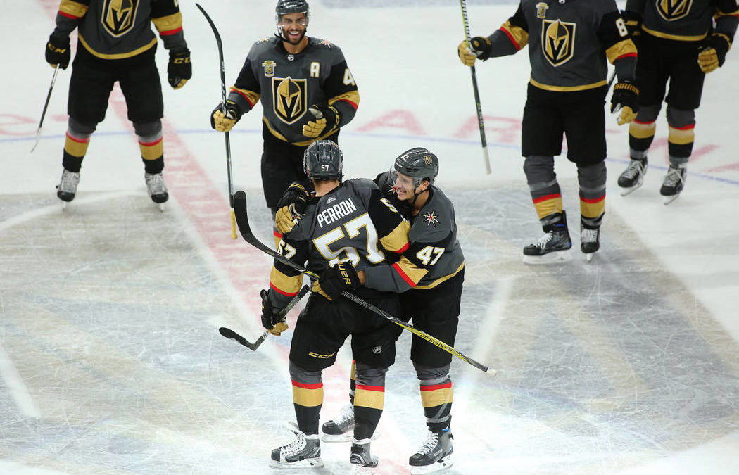Perron bails out Golden Knights with OT game-winner, 5-4