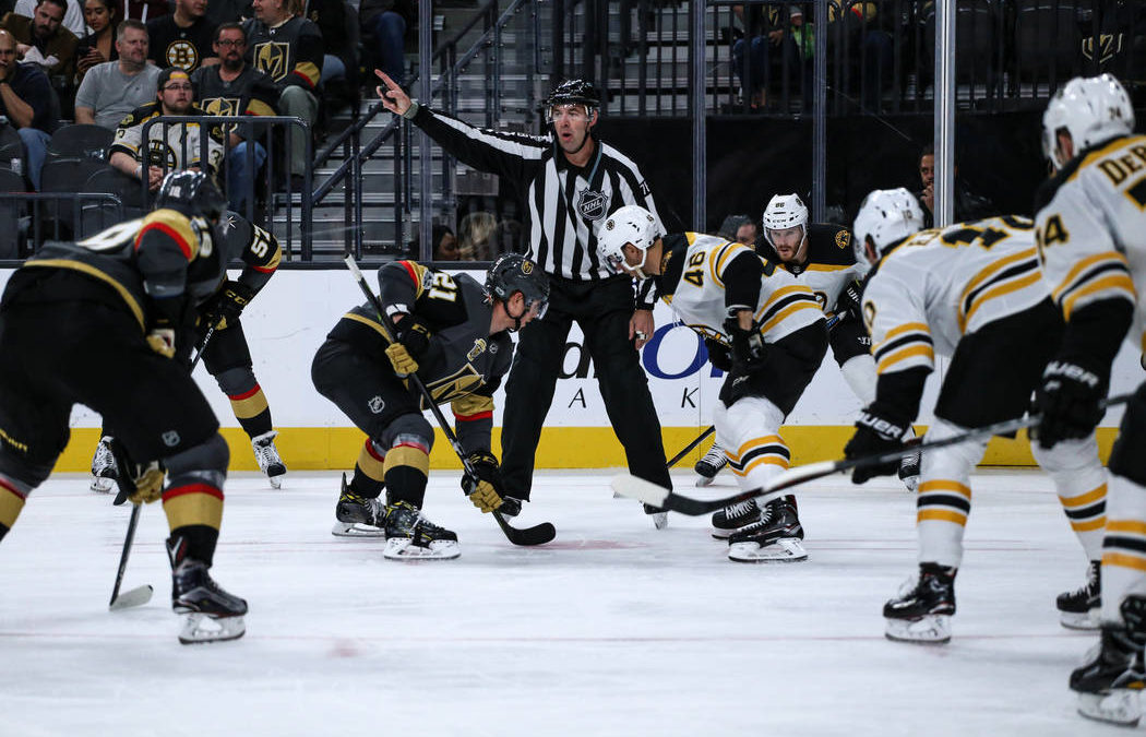 Stricter NHL faceoff rules frustrate Golden Knights center Cody Eakin