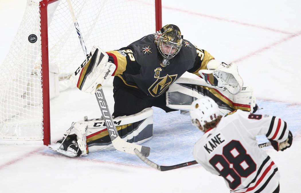 Golden Knights beat Blackhawks, 4-2; Dansk makes 29 saves