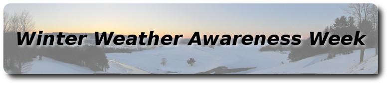 Winter Weather Awareness Week – Monday