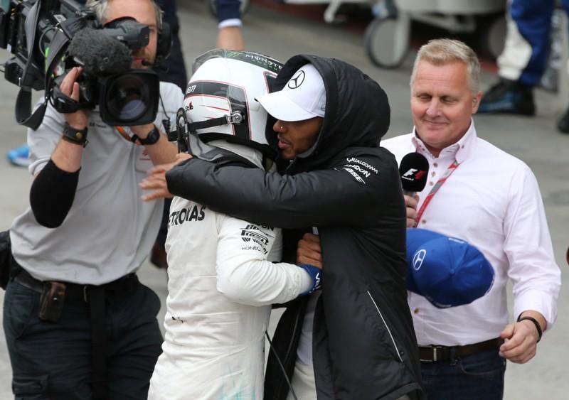Bottas grabs pole while Hamilton crashes out
