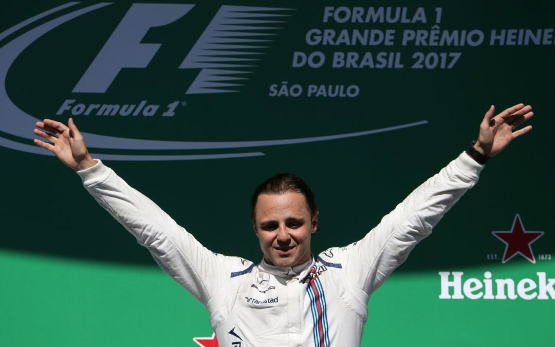 Massa says farewell to Brazilian fans from the podium