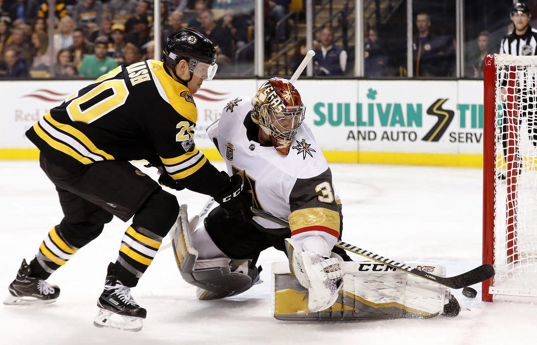 Golden Knights' road woes continue with 2-1 loss to Bruins