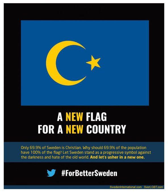 Sweden Under Pressure to Adopt Islamic National Flag