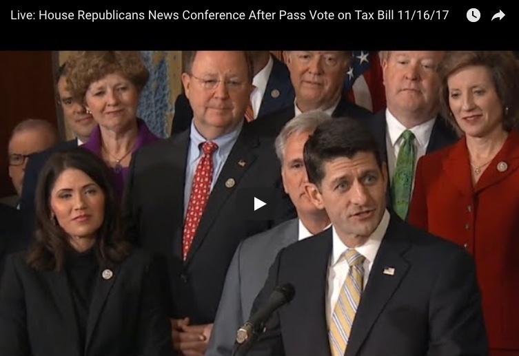 House Passes Major Republican Tax Reform Bill