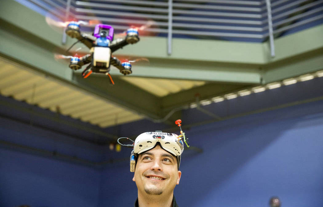 Students Study, Race Drones at Henderson Event